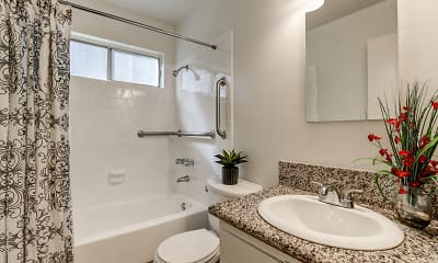 Bathroom, La Habra Hills Apartments, 2