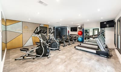 Fitness Weight Room, Pineville Place, 2