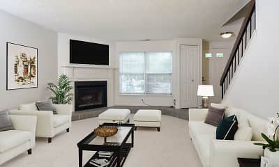 Living Room, Hilltop Townhomes, 2