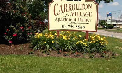 Community Signage, Carrollton Village, 1