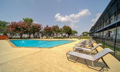 Pool, Villas del Tesoro Apartments, 2