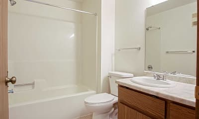 Bathroom, Roland Lane Apartments, 2