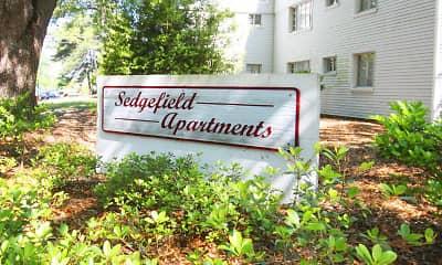 Community Signage, Sedgefield Apartments, 0