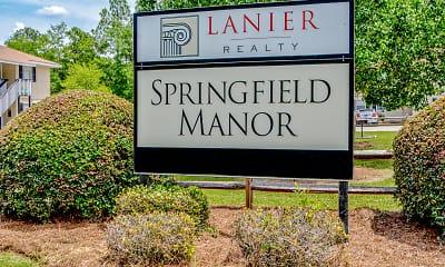 Community Signage, Springfield Manor, 0