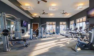 Fitness Weight Room, Lake Vue, 2