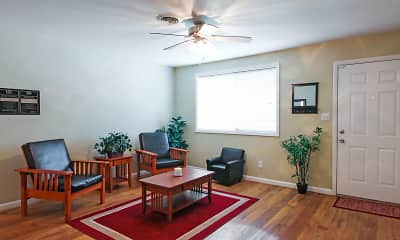 Living Room, South Ridge Apartments, 1