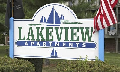 Community Signage, Lakeview Apartments, 2