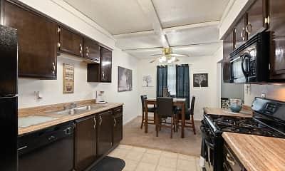 Kitchen, View High Lake, 1