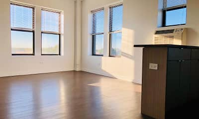 wood floored empty room with a healthy amount of sunlight, 1325 W Wilson, 1