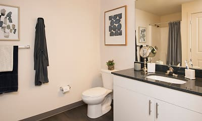 Bathroom, SkyVue Apartments, 2
