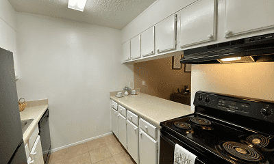 Kitchen, Jefferson Arms Apartments, 1