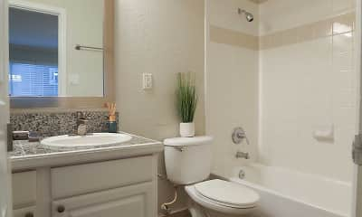 Bathroom, 220 West Alabama Street Apartments, 2