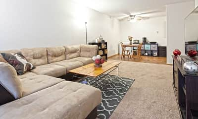 Living Room, The Bluffs Apartments, 1