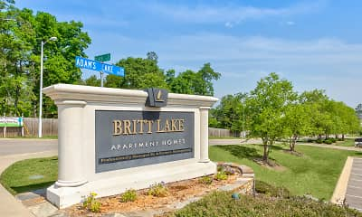 Community Signage, Britt Lake Apartments, 2
