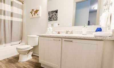 Bathroom, Driftwood Apartments, 2