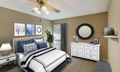 Bedroom, Preston Greens Apartments, 2