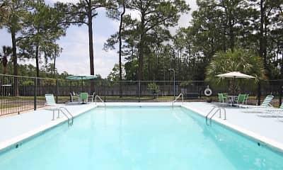 Pool, Singing River Apartments, 1