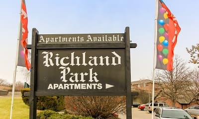 Community Signage, Richland Park, 2