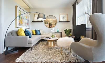 Living Room, The Olivia on Main, 1