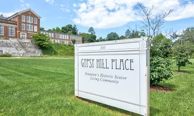 Community Signage, Gypsy Hill Place - Independent Living for Seniors 55+, 2