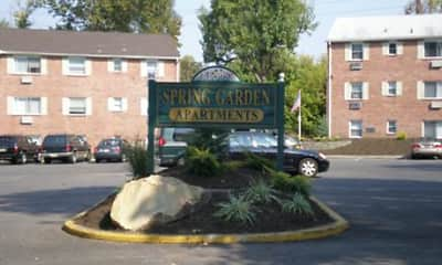 Community Signage, Spring Garden Apartments, 1