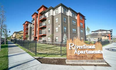 Community Signage, Riverfront Apartments, 2
