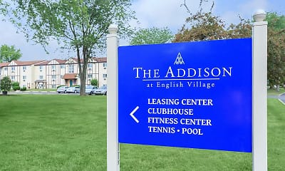 Community Signage, The Addison at English Village, 1