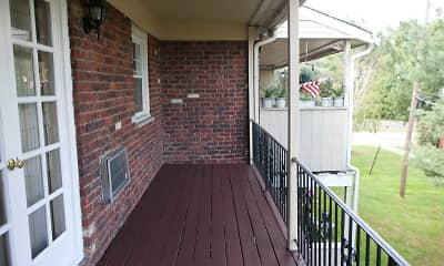 Patio / Deck, Brookwood Gardens Apartments, 2