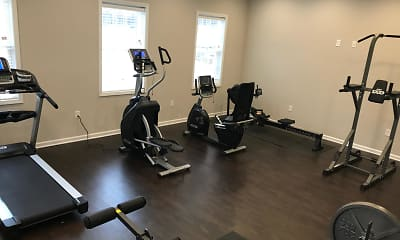 Fitness Weight Room, The Aspen Apartments, 2