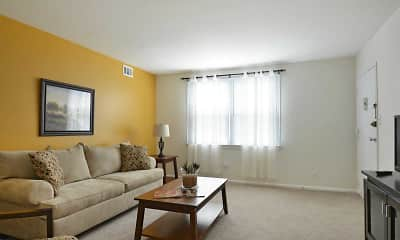 Living Room, Middleboro Apartments, 1