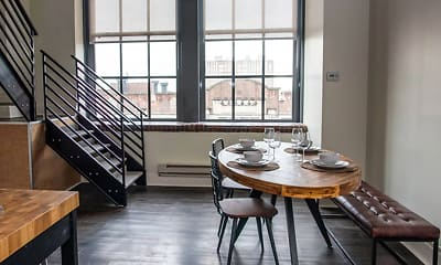 Dining Room, west loft apartments, 1