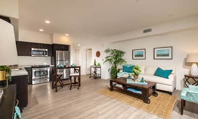 Living Room, Creekside Apartments, 1