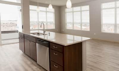 Kitchen, Watts Hill Apartments, 1