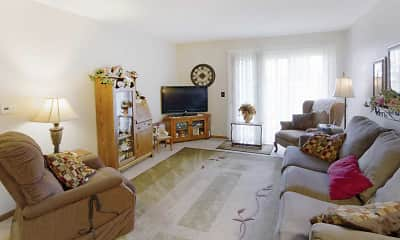 Living Room, Mallard Lake Apartments, 1