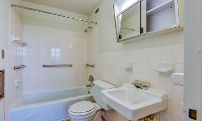 Bathroom, Newfield Towers, 2
