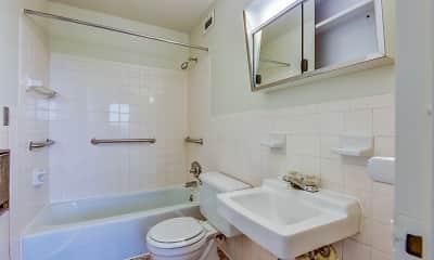 Bathroom, Newfield Towers, 2