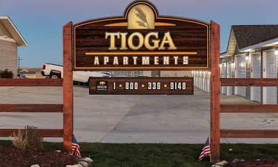 Community Signage, Tioga Apartments, 0