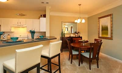 Dining Room, Lullwater At Bass Apartment Homes, 1