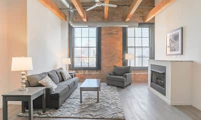 Living Room, Lake Street Lofts, 0