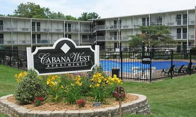 Community Signage, Cabana West Apartments, 0
