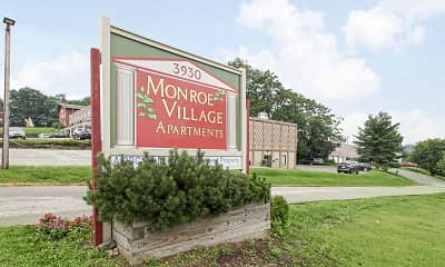 Community Signage, Monroe Village Apartments, 1