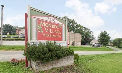 Community Signage, Monroe Village Apartments, 1