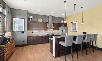 Kitchen, Cedar Falls Apartment Homes, 1
