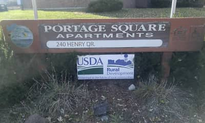 Community Signage, Portage Square Apartments, 2