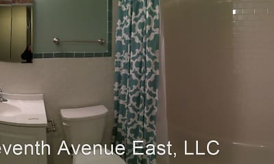 Bathroom, Central Village Apartments, 2