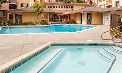 Pool, Peninsula Pines Apartments, 0