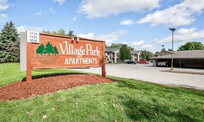 Community Signage, Village Park Apartments, 1