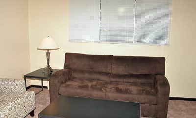 Living Room, Pineview Apartments, 1