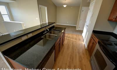 Kitchen, Hickory Grove Apartments, 2