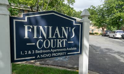 Community Signage, Finian's Court, 1